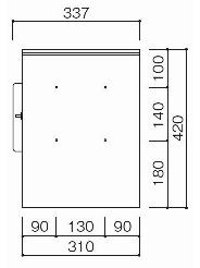 壁面接合部 ビス穴位置略図