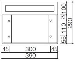 壁面接合部ビス穴位置略図
